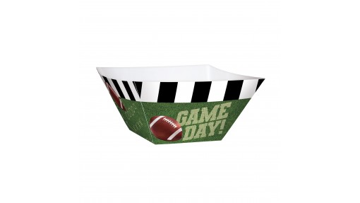 Football Game Day Cardstock Bowl - ...