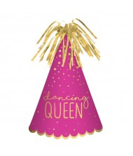 """Dancing Queen"" Cone Hat, Pink, 9"""