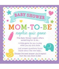 """Mom-To-Be"" Trivia Quiz Napkins 