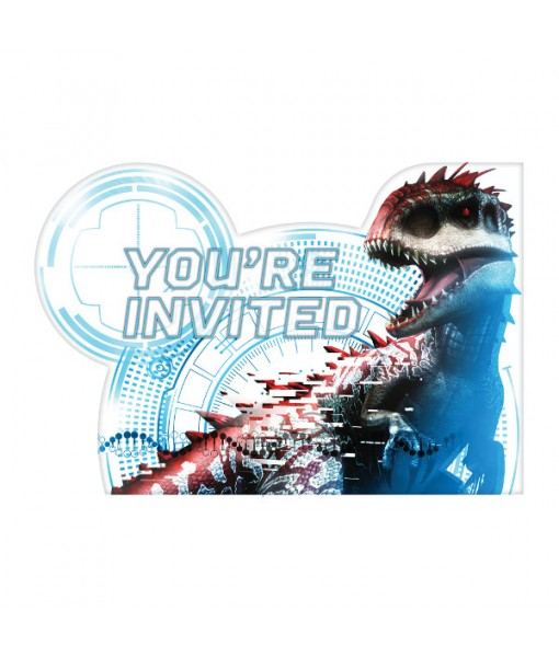 """Jurassic World"" Light Blue Party Postcard Invitations, 8 Ct."