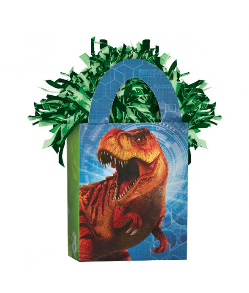 """Jurassic World"" Blue and Green Foil Mini Tote Party Balloon Weight, 5.7 oz."