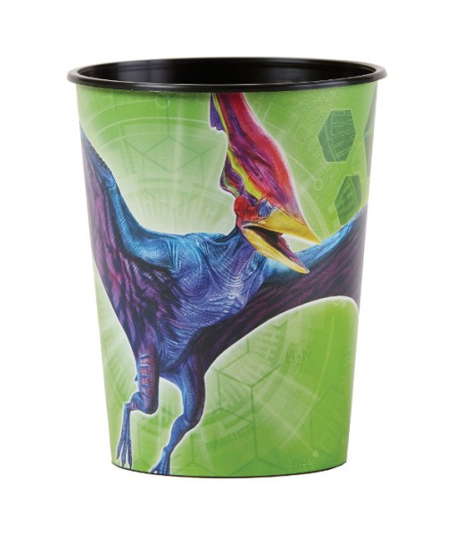 """Jurassic World"" Green Party Favor Plastic Cup 16 Oz."