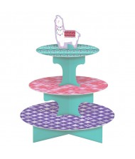 """Llama Fun"" Multicolor 3-Tier Treat Stand, ..."