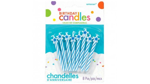 Spiral Candles w/ Star Topper - ...