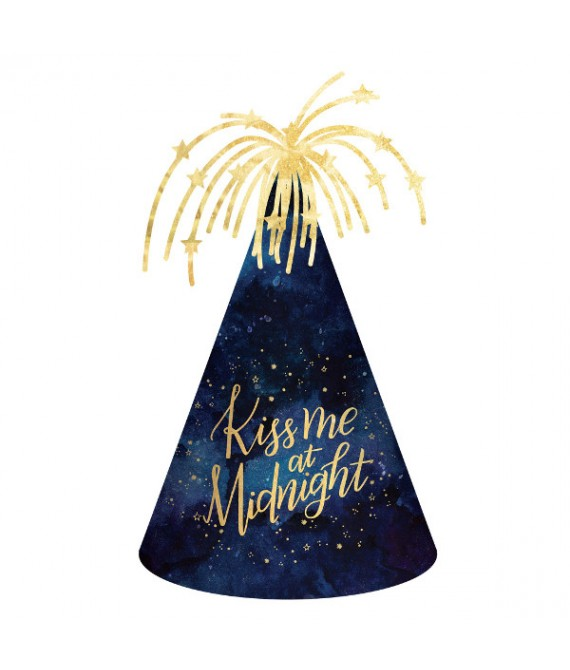 """""""Kiss Me at Midnight"""" Cone Hat, 9"""""""