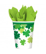 St. Patrick's Day Blooming Shamrocks Cups, ...