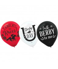"""Derby Day"" Party Balloons, 12"", 15 ..."