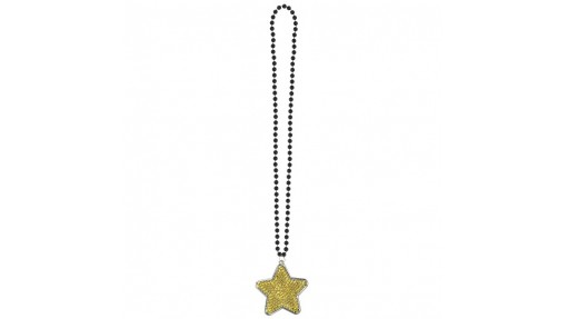 Star Bling Necklace - Black, Silver, ...