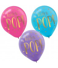 """Ready To Pop"" Latex Balloons, 6Ct.."