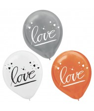 """Love"" Wedding Latex Balloons, Assorted Colors, ..."