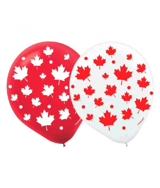 """""""Canada Day"""" Party Balloons, 12"""", 15 Ct."""