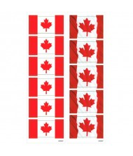 """Canada Day"", Small Flag Party Stickers, ..."