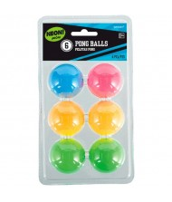 Assorted Neon Pong Ball|6 Ct.