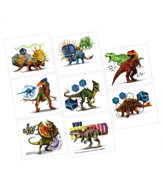 """""""Jurassic World"""" Assorted Party Favor Tattoos, 8 Ct."""