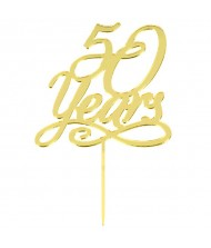 """""""50 Years"""" Cake Topper"""