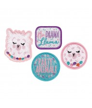 """Llama Fun"" Assorted Embroidered Patches, Party ..."