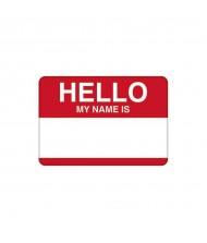 """Hello My Name Is..."" w/Red Border ..."