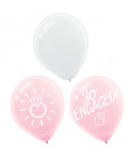"""So Engaged"" Blush Wedding Latex Balloons, ..."