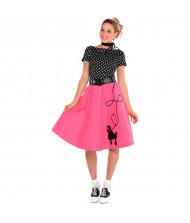 Adult 50's Flair Poodle Skirt Costume ...
