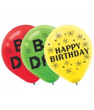 """TNT Party!"" Printed Latex Balloons, 6 ..."