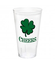 """Cheers"" St. Patrick's Day, Printed Shamrock ..."
