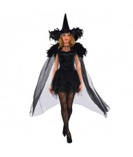 Adult Feather Witch Cape