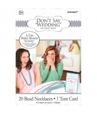 """Don't Say Wedding"" Bridal Bead Game"