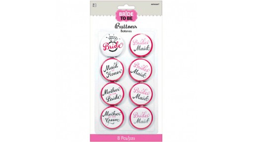 Classy Bride Bridal Party Buttons