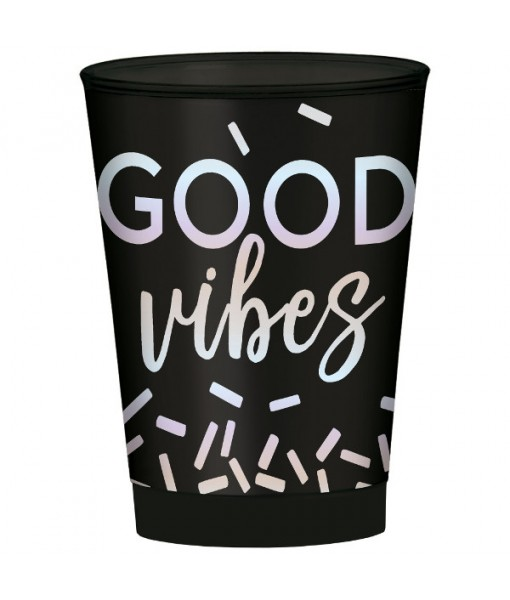 """Good Vibes"" Drop Hot-Stamped Tumblers, 10 oz., 30 Ct."
