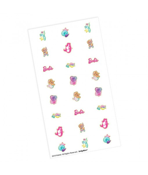 """Barbie Mermaid"" Assorted Nail Decals, Party Favors, 96 Pc."
