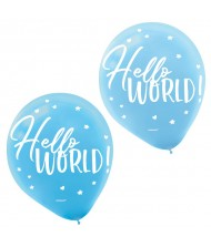 """Hello World"" Boy Baby Shower, Latex ..."