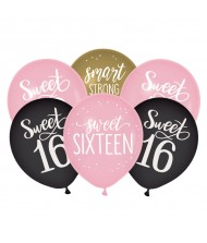 """Sweet Sixteen"" Birthday Assorted Color Latex ..."