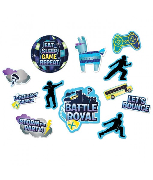 """Battle Royal"" Assorted Cutout Decorations, 12 Ct."