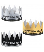 """""""Happy New Year"""" Crowns, Black, Silver, ..."""