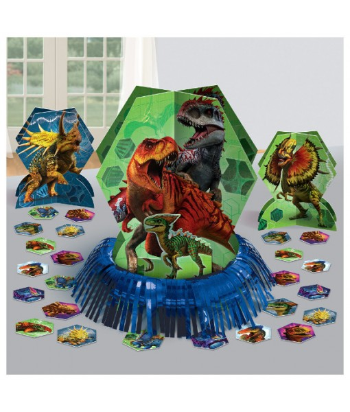 """Jurassic World"" Blue and Green Party Table Decorating Kit, 23 Pc."