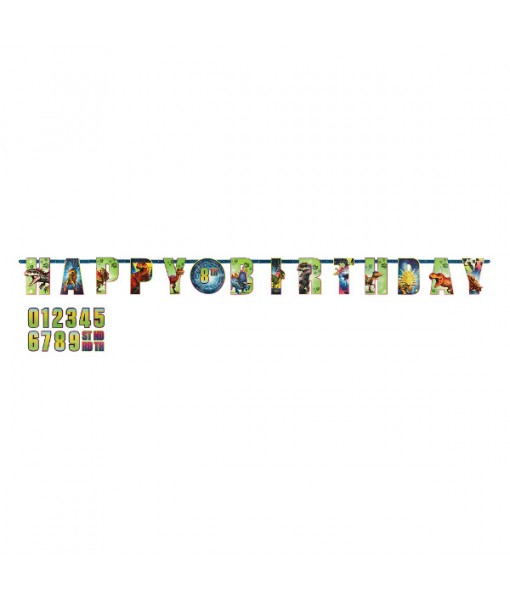 """Jurassic World"" Birthday Add-An-Age Letter Party Banner Kit, 25 Pc."