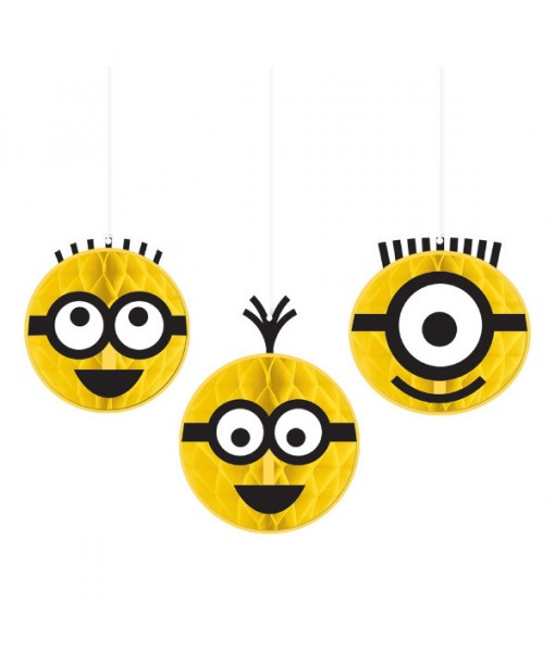 """Despicable Me"" Yellow Honeycomb Party Decorations, 3 Ct."