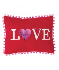 """Love"", Valentine's Day Red Pillow Favor"