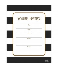 Black and White Invitations | Pack ...