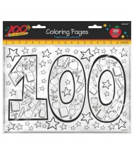 """100th Day Of School"" Party Coloring ..."