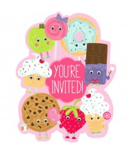 Dessert Characters Party Invites | Pack ...
