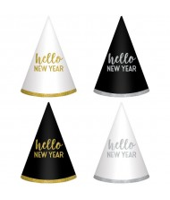 """Hello New Year"" Cone Hats, 6 ..."