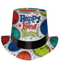 """Happy New Year"" Prismatic Clock Top ..."
