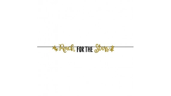 Reach for the Stars Letter Banner Set   Party Decoration   1 Set