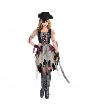 Adult Haunted Pirate Wench Costume