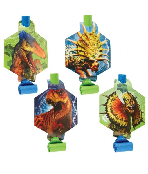 """""""Jurassic World"""" Blue and Green Party Favor Blowouts, 8 Ct."""