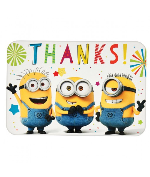 """Despicable Me"" Multicolor Thank You Party Postcards, 4.25"" x 6.25"", 8 Ct."