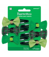 St. Patrick's Day Barrettes - Green, ...