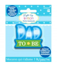 """Dad to Be"" Flashing Button"