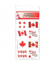 """Canada Day"" Party Tattoos, 16 Ct."